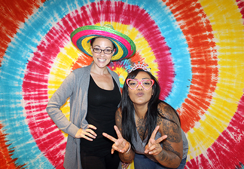 tie dye photo booth backdrop