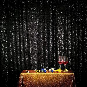 Black Sequin Photo Booth Backdrop