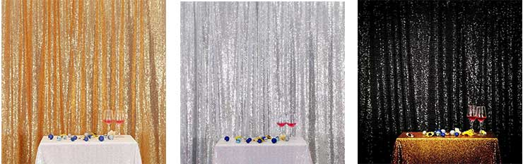 Sparkling Sequin Photo Booth Backdrops.