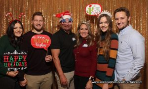 aegis holiday party photo booth