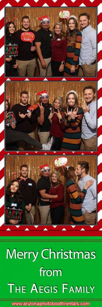 aegis holiday party photo booth rental