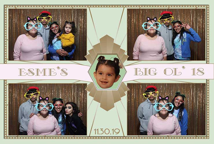 18th birthday photo booth rentla