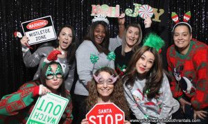 business holiday party photo booth rental