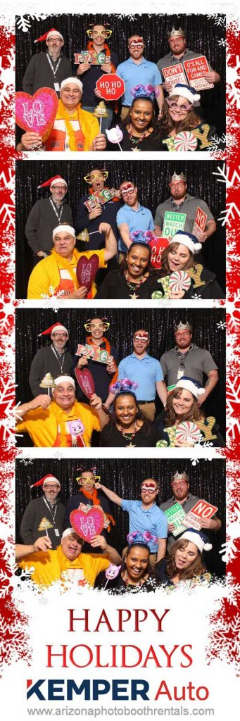 business christmas holiday party photo booth rental