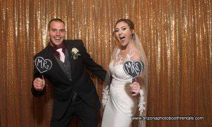 wedding at noah's chandler photo booth rental