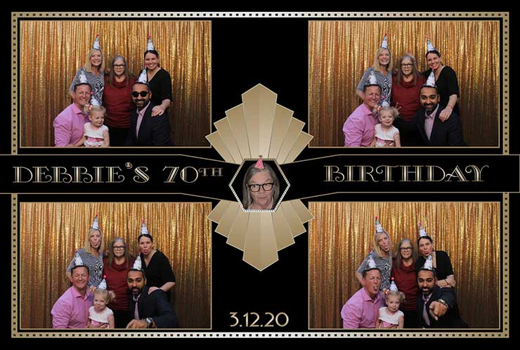 70th birthday photo booth rental