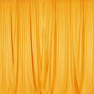 marigold color photo booth backdrop