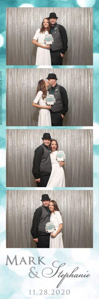 mark & stephanie's wedding photo booth rental