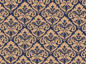 blue and gold damask photo booth background