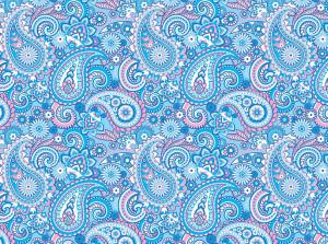 blue paisley pattern