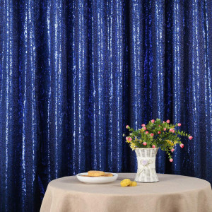 Dark Blue Sequin Photo Booth Backdrop