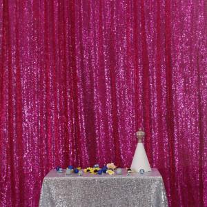 Fuschia Sequin Photo Booth Backdrop