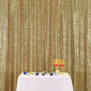 Light Gold Sequin Photo Booth Backdrop
