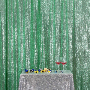 Mint Green Sequin Photo Booth Backdrop