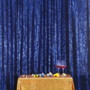 Navy Blue Sequin Photo Booth Backdrop
