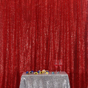 Red Sequin Photo Booth Backdrop