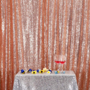 Rose Gold Sequin Photo Booth Backdrop