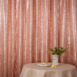 Rose Pink Sequin Photo Booth Backdrop