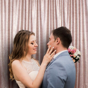 Satin Champagne Photo Booth Backdrop