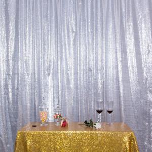 Satin Silver Photo Booth Backdrop