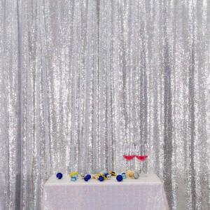 Silver Sequin Photo Booth Backdrop