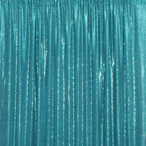 Teal Sequin Photo Booth Backdrop
