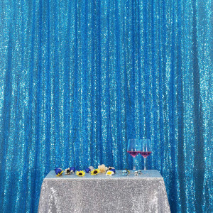 Turquoise Sequin Photo Booth Backdrop