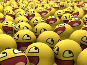 smiling emoji balls