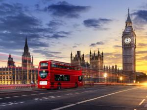 traveling london double decker bus