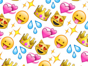 cats and crowns emoji background