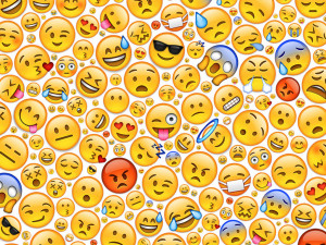 All emojis mixed background