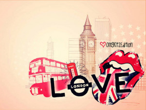 london images background collage