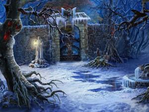 winter graveyard