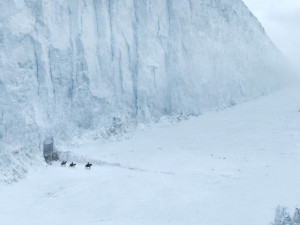 Mountain Wall in Winter